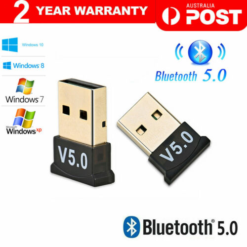Mini Wireless USB Bluetooth V5.0 Dongle Adapter Receiver Win 7 8 10 XP VISTA PC