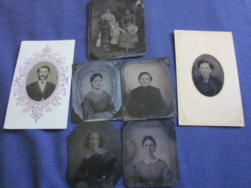 (6) Tintypes of Various Subjects Mostly 1/9 Plate #101017