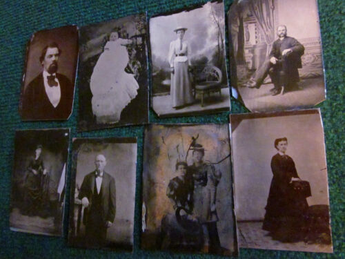 8 tintypes of Various Subjects, Mostly 1/6 Plate, Good to Very Good #010512