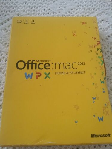 MICROSOFT OFFICE HOME & STUDENT 2011 3 USERS. PREW-OWNED.