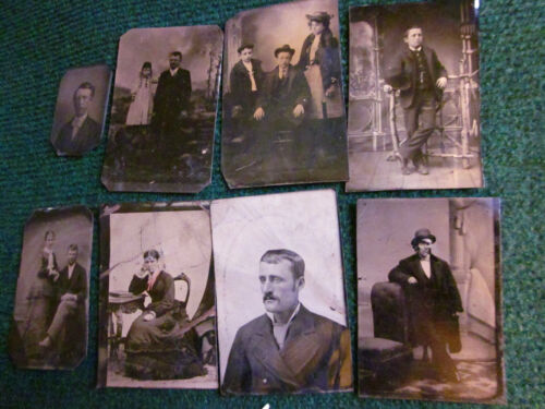 8 tintypes of Various Subjects, Mostly 1/6 Plate, Good to Very Good #010506