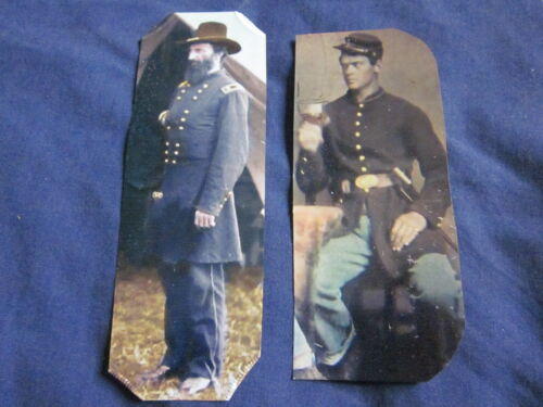 2 Reprint/Reproduced Tintypes of C.W. Soldiers