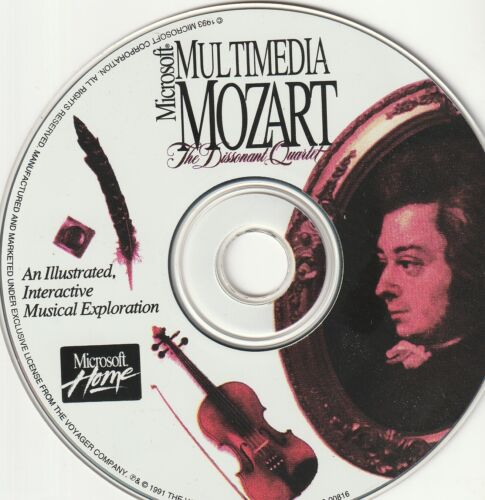 Classic / Retro Pc Software - Microsoft Multimedia - Mozart (Disc Only - 95, 98