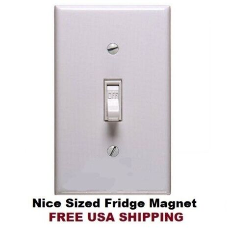 640 - Realistic Light Switch Funny Fridge Refrigerator Magnet