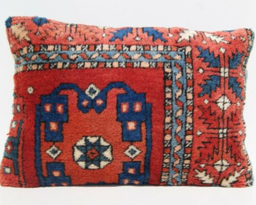 """home orgnization pillow Turkish pillow cover room art kilim area rugs 24""""x16"""""""