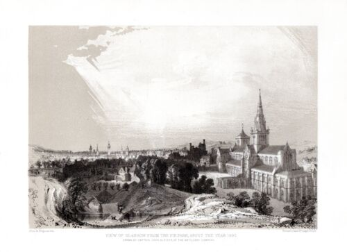Glasgow Cathedral and Upper Town Fir Park Scotland - FREEPOST