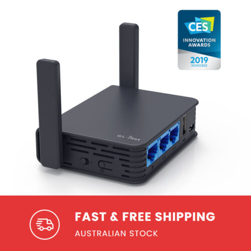 GL.iNet GL-AR750S-EXT (Slate) Dual Band Gigabit VPN Travel Router