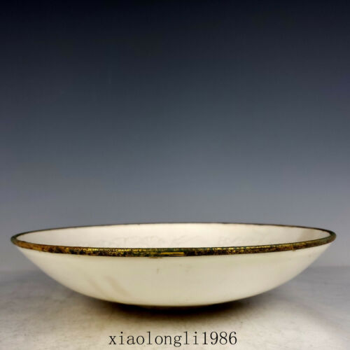 China Ancient porcelain Song dynasty carving Flower Poetic pattern Baokou bowl
