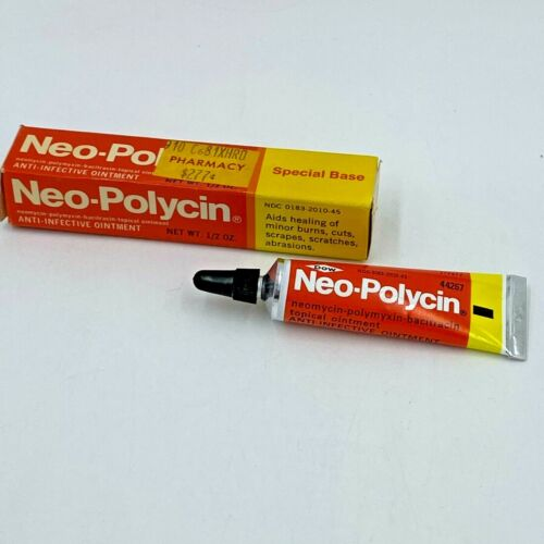Vintage 1982 Dow Neo Polycin Ointment Unused 1/2 oz Tube in Box EXPIRED NOS SM
