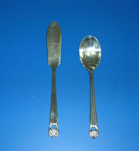 """1847 Rogers Bros. IS Silverplate """"Eternally Yours"""" Butter Knife & Sugar Spoon"""