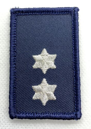 Rank Patch #5, Dark Blue & Silver, SES, NOT official NSW, Hook Rear, 60mm x 40mm