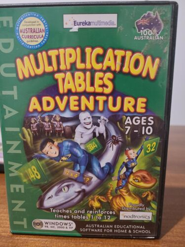 Multiplication tables adve Kids Educational Pc Computer Maths Game 7 to 10 year