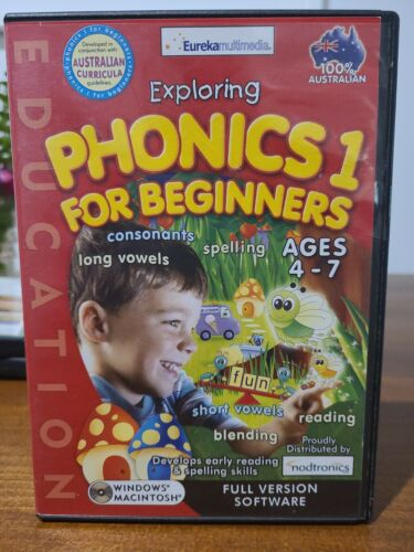 Phonics 1 for beginners read Kids Educational Pc Computer Maths Game 4 to 7 yrs
