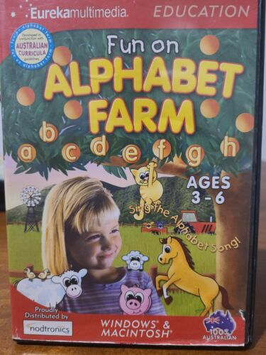 Fun on alphabet farm Kids Educational Pc Computer computer Game 3 to 6 years