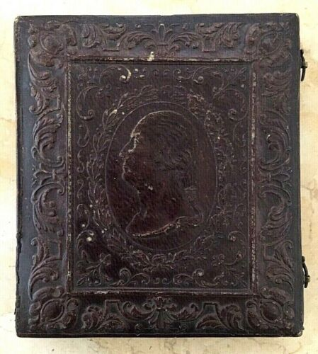RARE GEORGE WASHINGTON CASE 1/6 PLATE DAGUERREOTYPE OF A YOUNG GIRL c1845