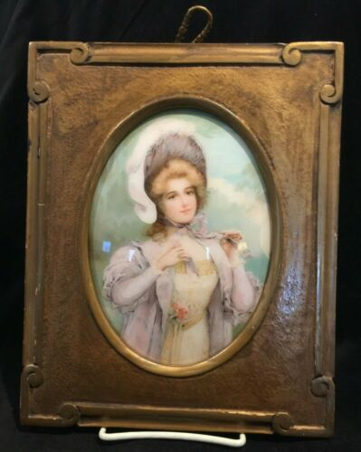 Portrait of Lady on Convex Glass