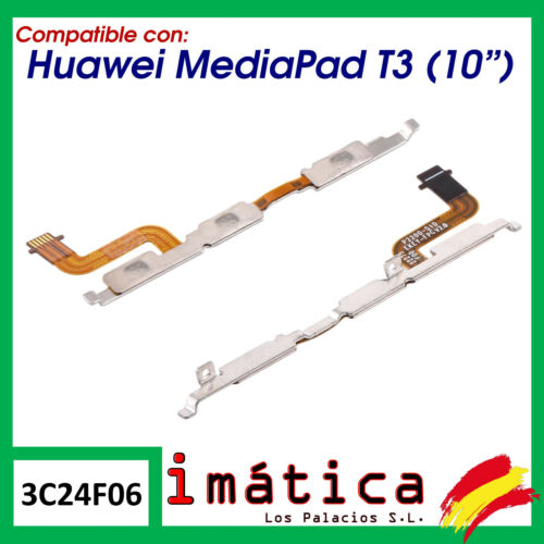 """Cable Flex On / Volume For Tablet Huawei Mediapad T3 (10 """") Power"""