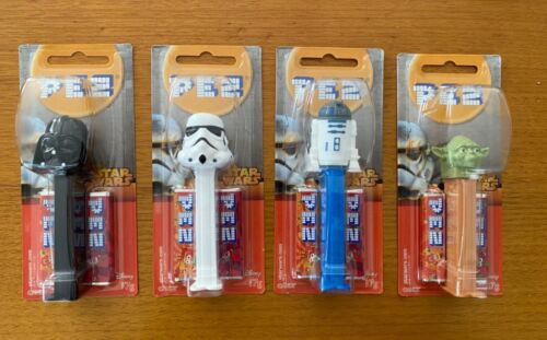 Pez Star Wars Set of 4 Pez Dispensers on Cards