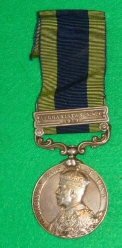 1909 India General Service Medal with Afghanistan N.W.F 1919 bar1914 - 1918 (WWI) - 13962