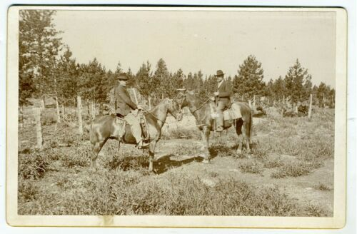CABINET CARD – COWBOYS ON HORSEBACK