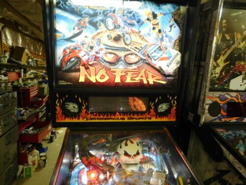Williams Bally No Fear pinball machine real nice fully shopped LEDS