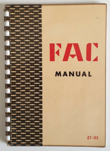 FAC Manual -Universal Construction System Catalogue Structures Symbols Parts '58