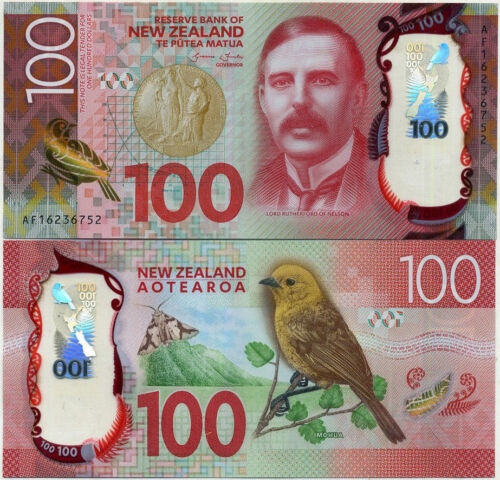 New Zealand $100 Dollar Banknote year 2016 SUPERB GEM UNC Polymer,L.Rutherford