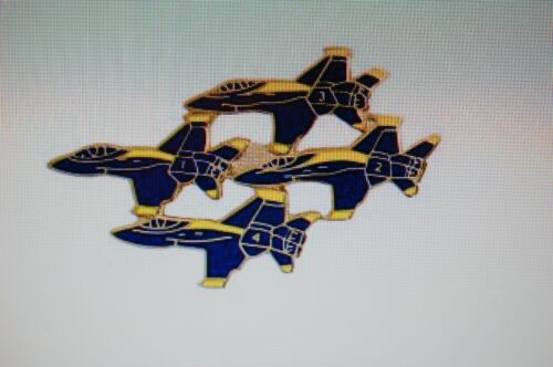 US USA 4 Blue Angels Aircraft Large Military Hat Lapel PinOther Militaria - 135