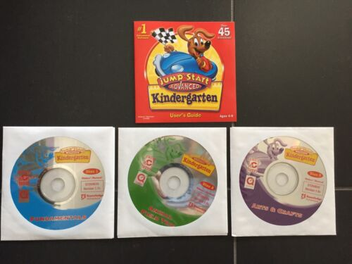 JUMP START Advanced KINDERGARTEN CD PC ROM Fundamentals Arts Crafts Animal Trip