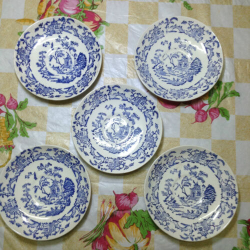 VINTAGE  Conway Pottery England  Saucer x 5 pieces