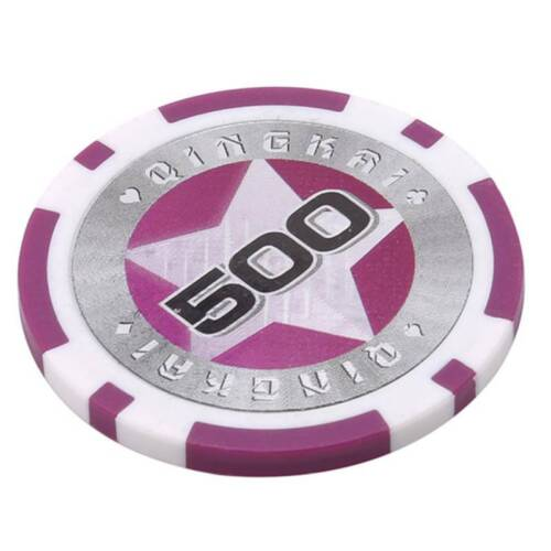 Casino Texas Hold ABS Poker Chips With Star Trim Sticker $500 Poker Chip FW