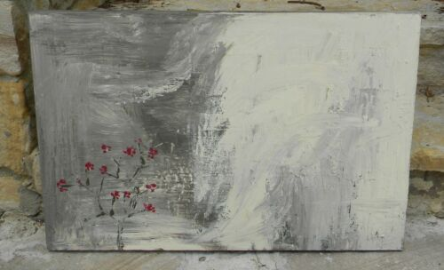 Vintage Cherry Blossoms Japanese Art Painting