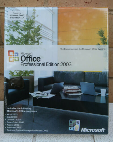 Microsoft Office Professional 2003 Retail Version CD.... Discontinue..New Sealed