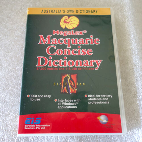 PC MACQUARIE CONCISE DICTIONARY - 3rd Edition 2002 - MEGALEX CD-ROM WINDOWS