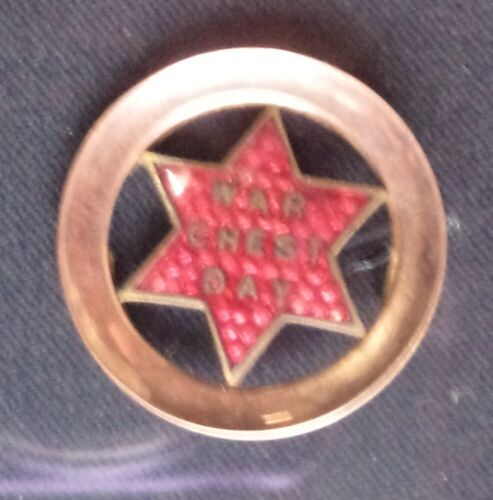 WWI  WAR  CHEST DAY BADGE 9ct GOLD  1914 - 1918 (WWI) - 13962