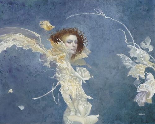 """James CHRISTENSEN """" Fiona """" Limited Edition CANVAS Signed & Numbered with COA"""