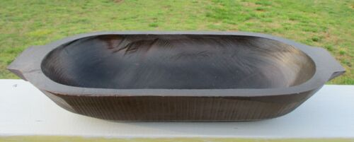 Primitive Hand Carved Wood Dough Trough Trencher Virginia Farm made & Used