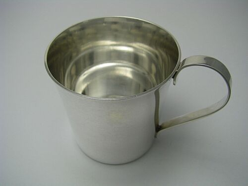 TUTTLE STERLING SILVER BABY CUP Lyndon Johnson 1963-1969 by Tuttle NO MONO Rare!