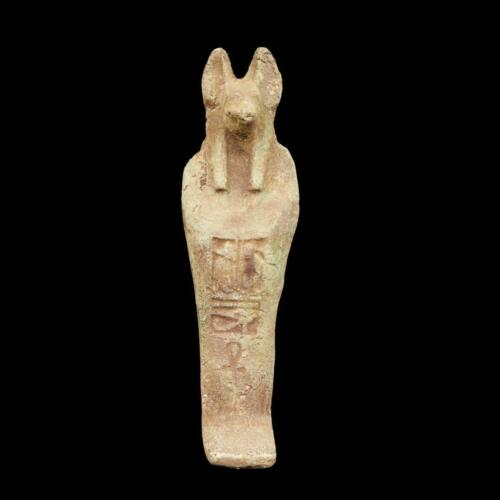 Antique Terracota Ushabti Statue Figure Ancient Egyptian God Anubis God Of Death