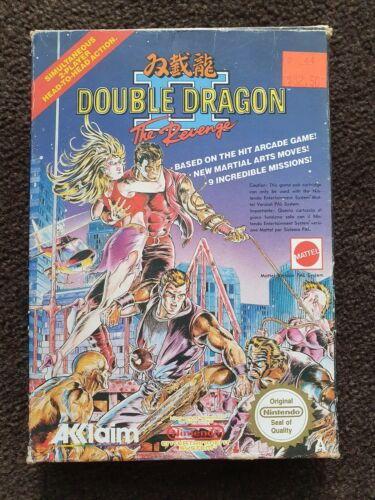 Double Dragon 2 II Nes Pal A Boxed With Manual GC