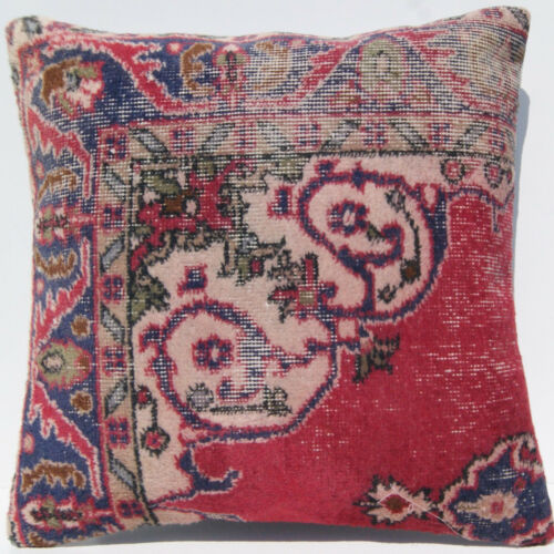 """24""""X24"""" home decor Turkish square pillow cover wool handknotted carpet area rug"""