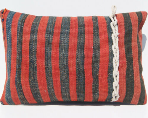 """24""""x16"""" Striped Turkish Handwoven rug pillow kilim pillow cover kelim area rugs"""