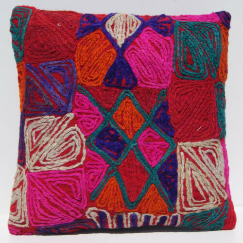 """20""""x20"""" Decorative Arabic rug pillow wool handwoven square room design area rugs"""