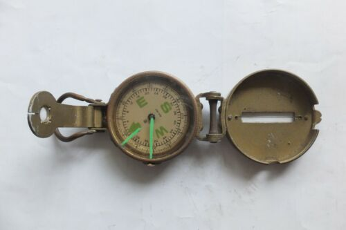 Vintage Nautical  Military Compass  Engineer Compass Japan (Not Working)