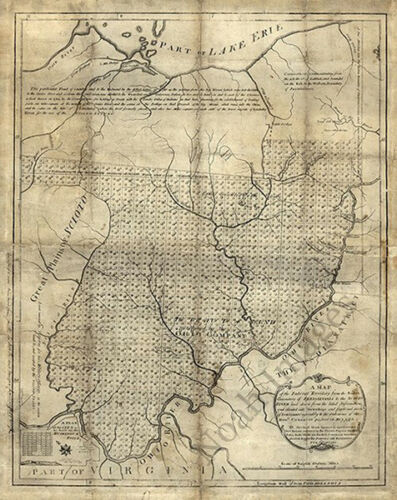 Map of the Federal Territory c1785  24x30