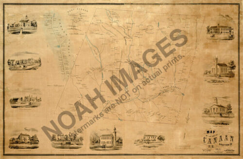 Map of Cannan New Hampshire c1855 24x36