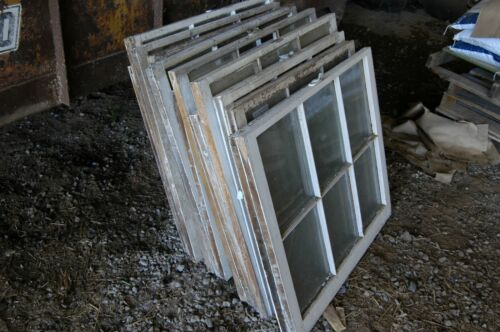 Lot of 16 Vintage Antique 6 Panel Windows Panes Farm House Barn Shed