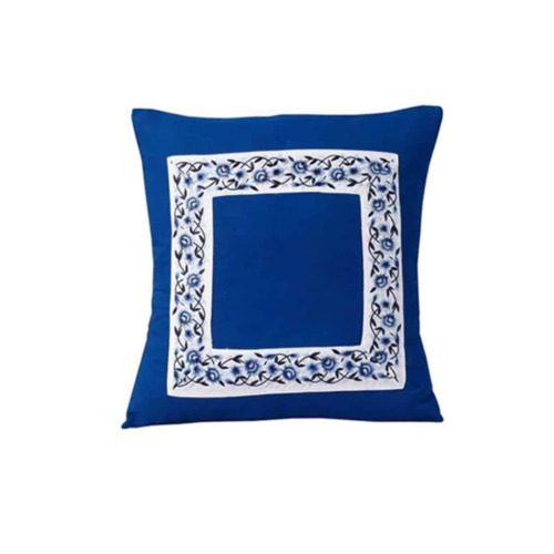 Amsons Embroidered Cushion Cover Pair Blue Poetry