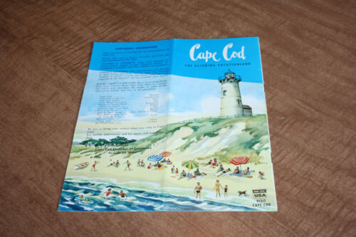 Vintage 1966 Cape Cod The Alluring Vacationland Tourist Brochure See Pix!!