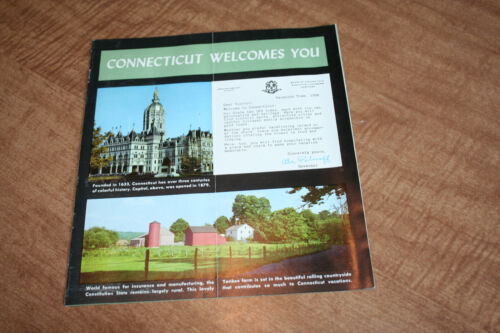 1956 Connecticut The Holiday State Tourist Brochure See Pix!!